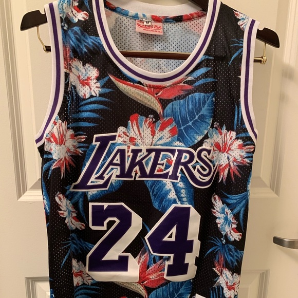 Lakers Mitchell & Ness Floral Kobe Bryant Jersey